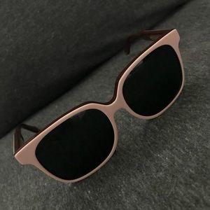 Victoria Beckham Light Pink Retro Sunglasses